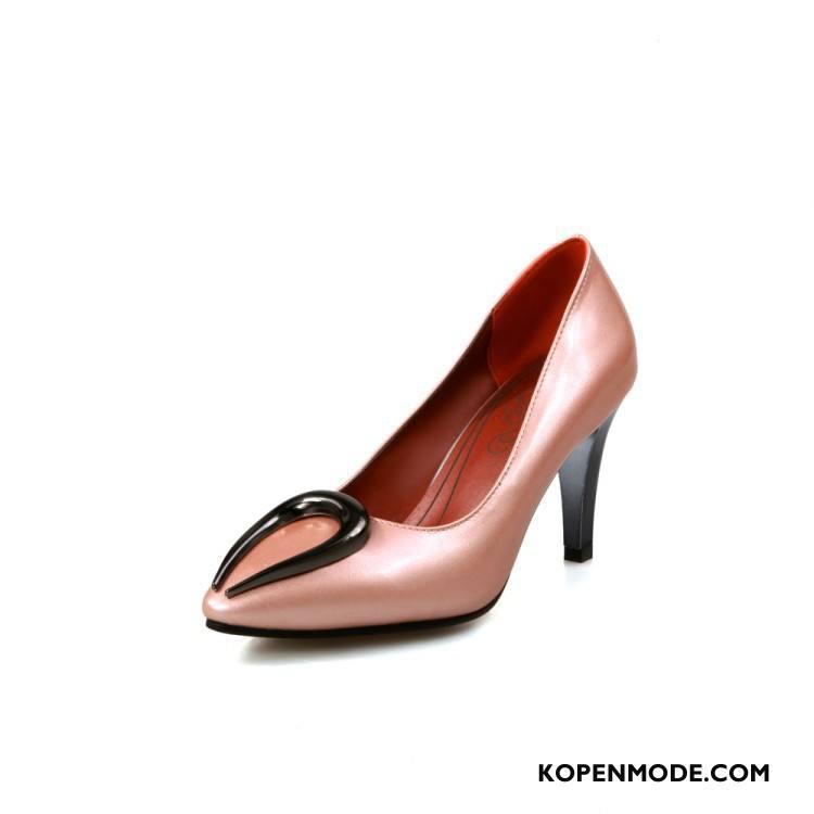 46d9305ba1a Hoge Hakken Dames Punt Grote Maten Voorjaar Schoenen Herfst Pumps Roze Rood  Roze Zilver Wit Beige Online