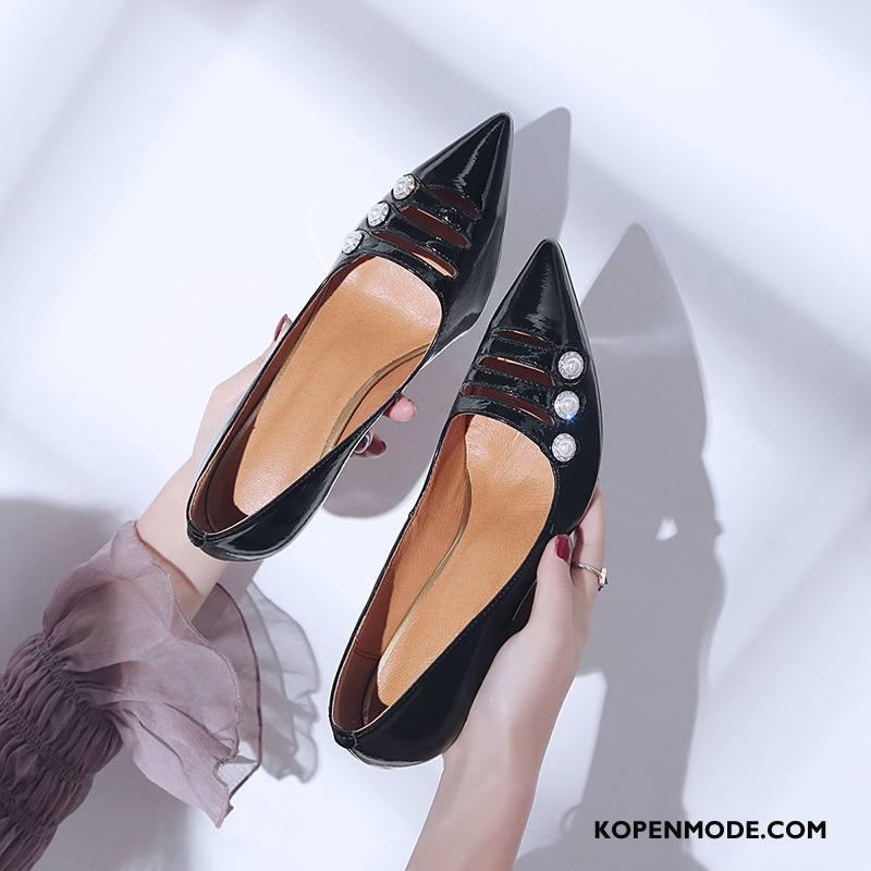 Hoge Hakken Dames Sexy Vrouwen Zomer Schoenen Punt Met Strass Zwart Licht
