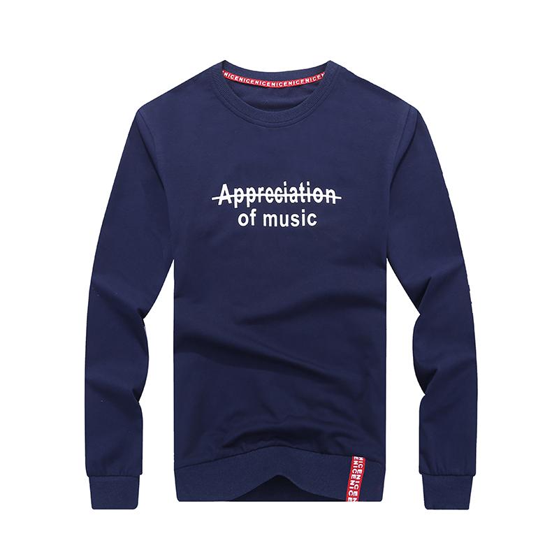 Hoodies Heren Herfst Lange Mouwen Mode Mannen Pullover Nieuw Blauw