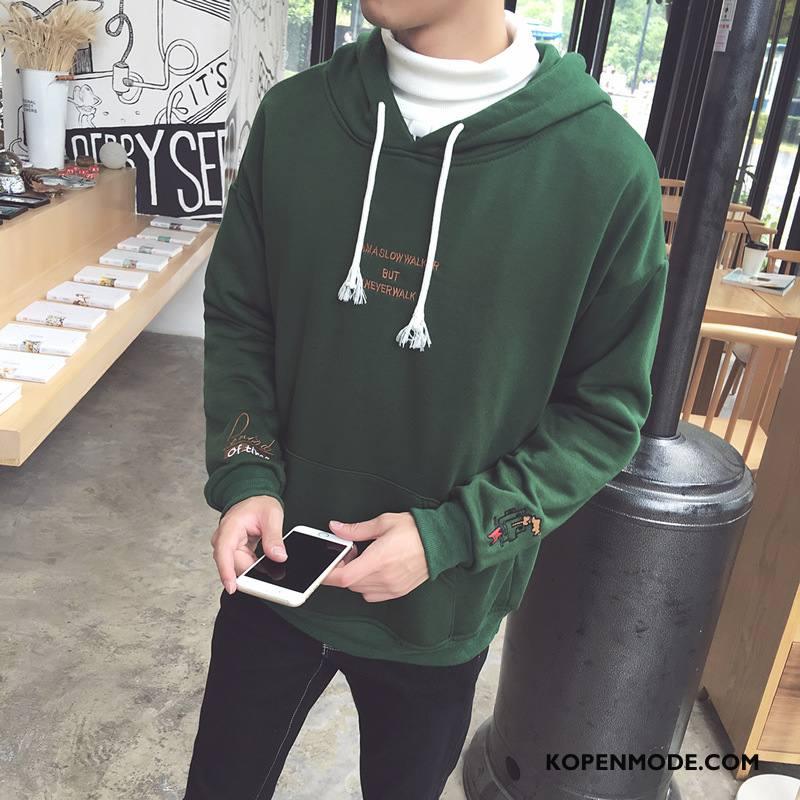 Hoodies Heren Jasje Jeugd Nieuw Herfst Mannen Pullover Groen