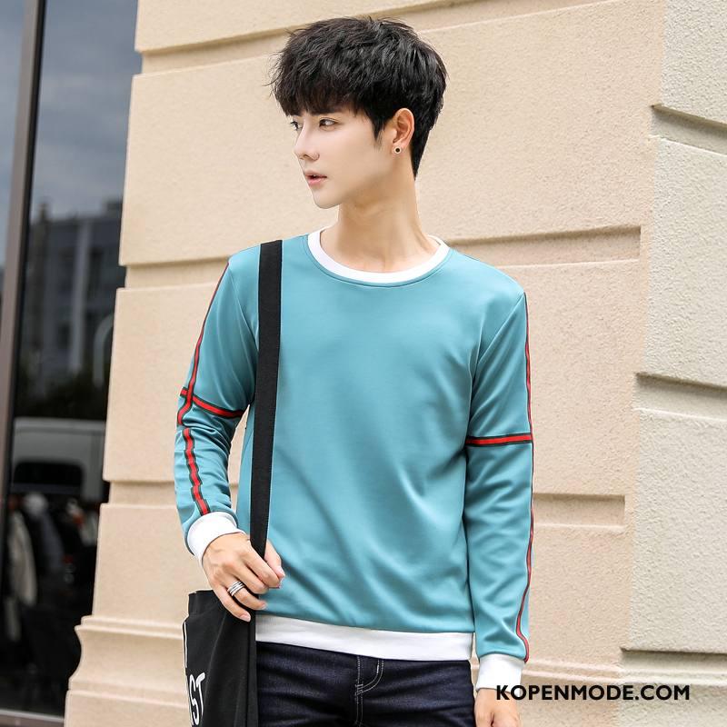 Hoodies Heren Mannen Pullover Herfst Onderhemd Slim Fit Jasje Blauw