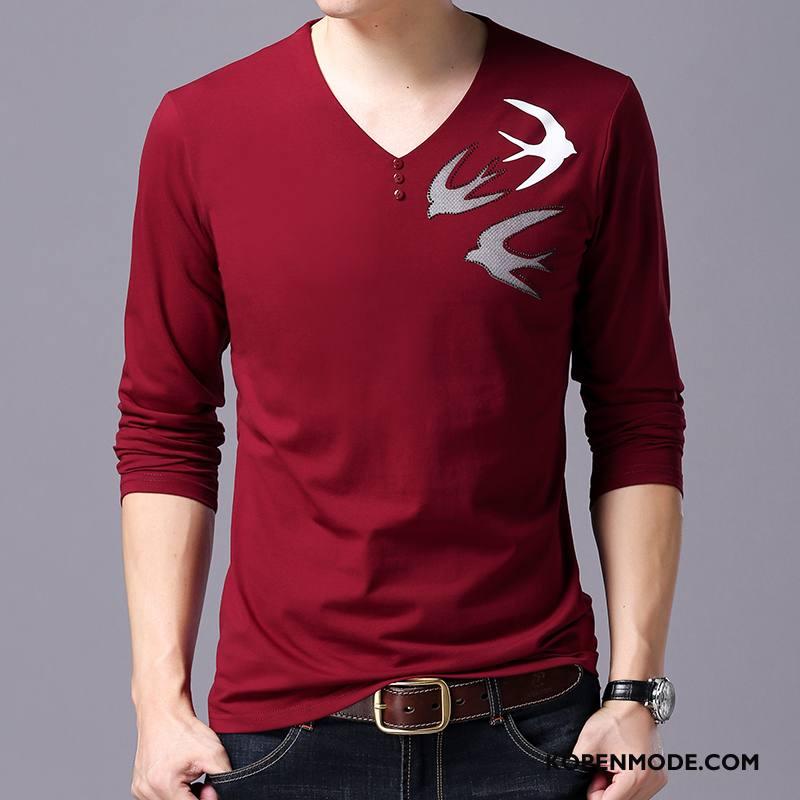 Hoodies Heren Trend Lange Mouwen Groot Nieuw T-shirts Mannen Rode Wijn