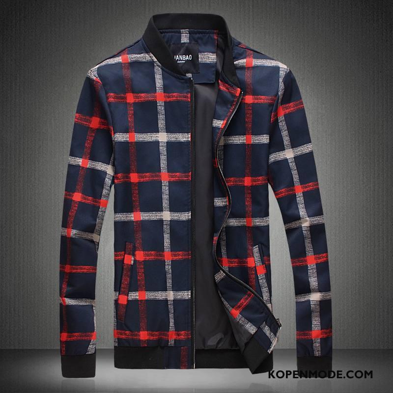 Jassen Heren Casual Slim Fit Jack Mode Persoonlijk Mannen Zwart