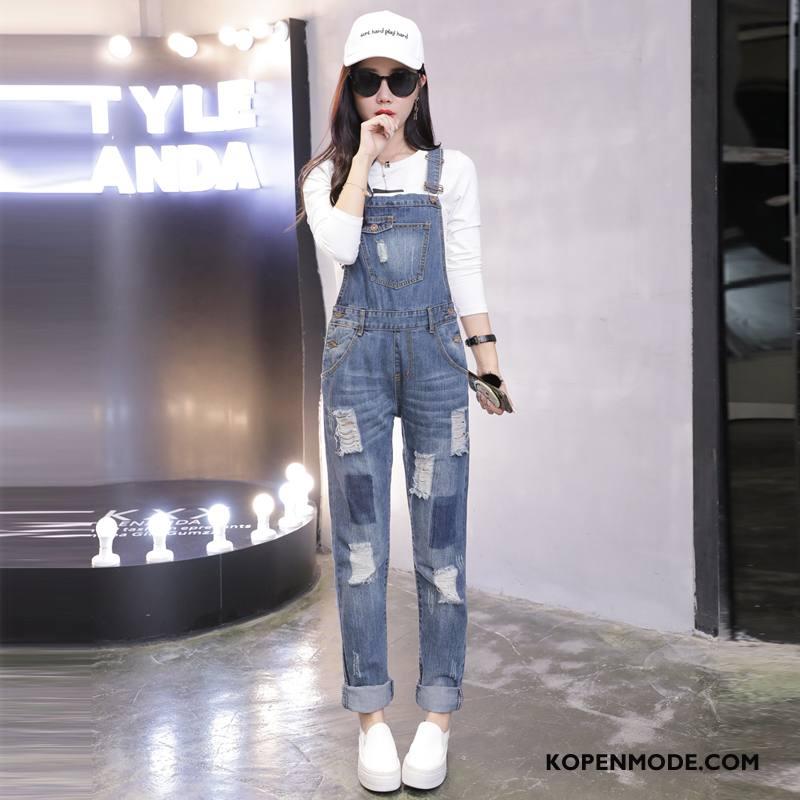 Jeans Dames 2018 Mooi Vers Herfst Zoet Eenvoudige Blauw