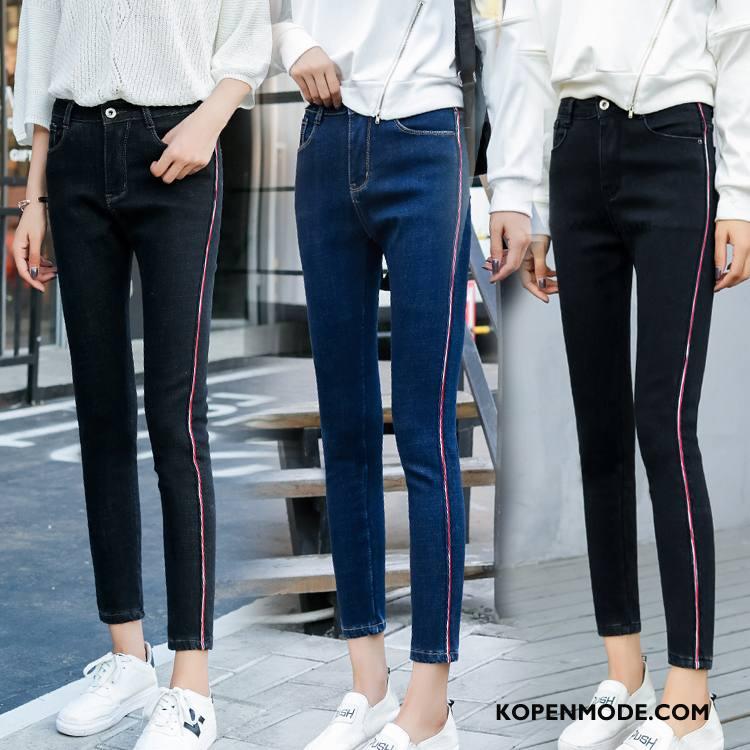 Jeans Dames Herfst Trend Casual 2018 Spijkerbroek Jeans Mode Zwart
