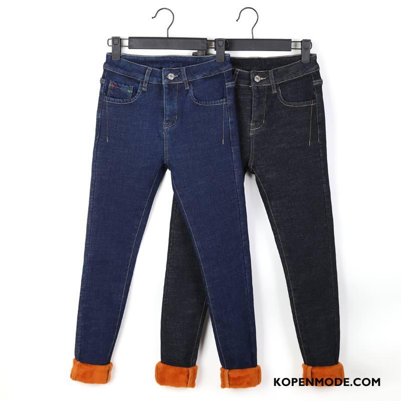 Jeans Dames Skinny Mode Spijkerbroek Jeans Elegante 2018 Mini Effen Kleur Zwart