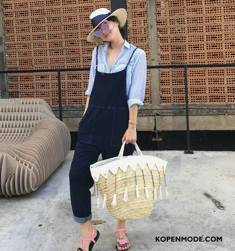 Jeans Dames Spijkerbroek Jeans Slim Fit Trend Casual 2018 Elegante Blauw