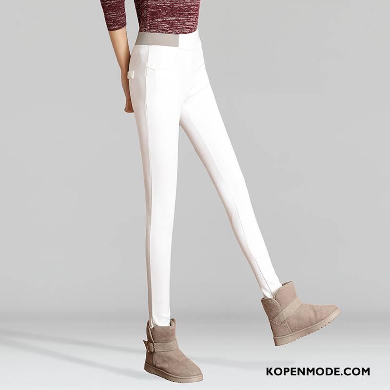 Jeans Dames Winter Spijkerbroek Jeans 2018 Slim Fit Dunne Mode Wit