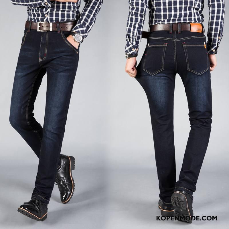 Jeans Heren Broek Nieuw Bedrijf Trend Jeugd Hoge Blauw