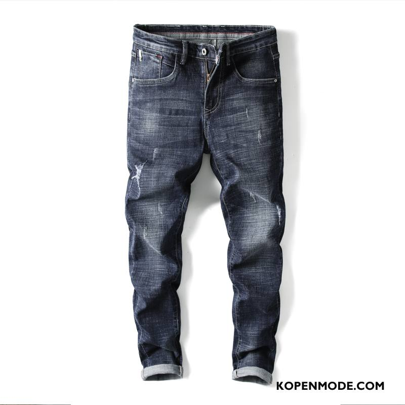 Jeans Heren Broek Trend Nieuw 2018 Mini Jeugd Donkerblauw