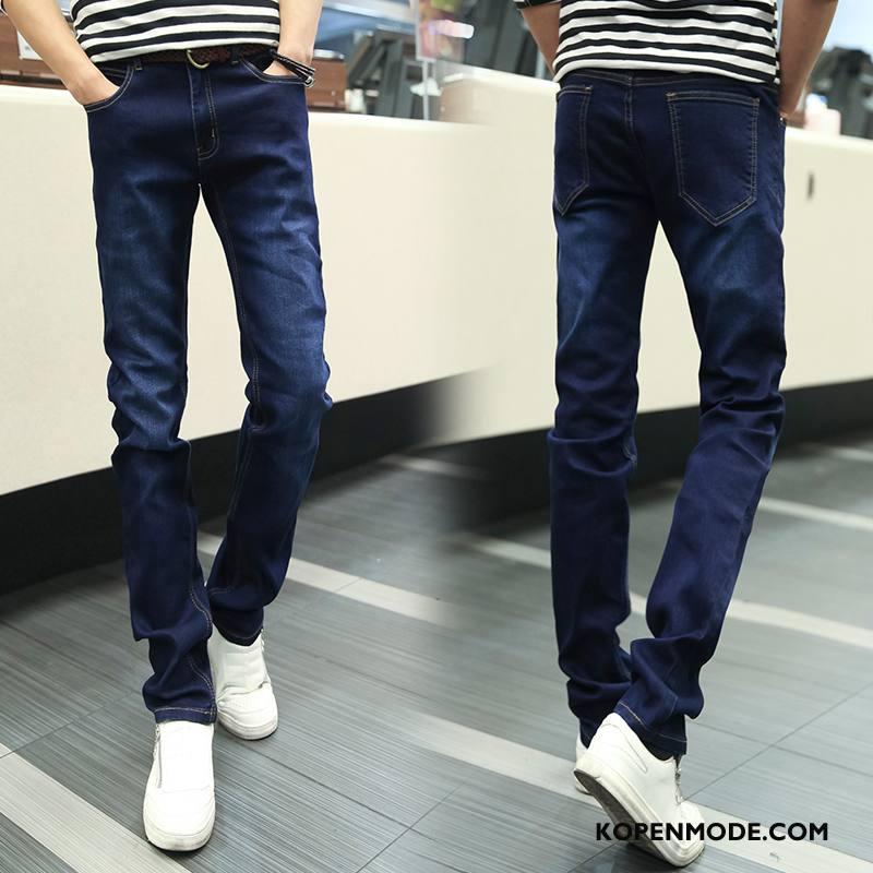 Jeans Heren Elastiek Denim Jeugd Blauw