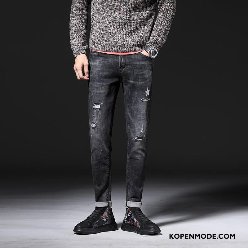 Jeans Heren Herfst Winter Spijkerbroek Jeans 2018 Zwart