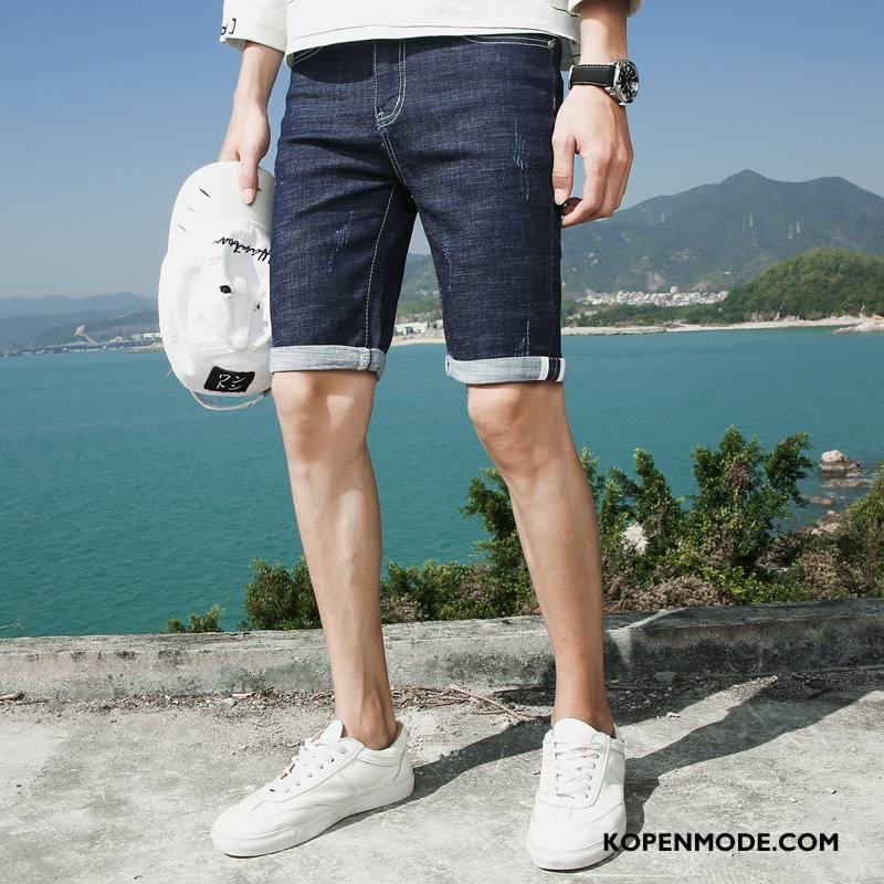 Korte Jeans Broek Heren.Jeans Heren Korte Broek Denim Mannen Zomer Voorjaar Nieuw Blauw Sale