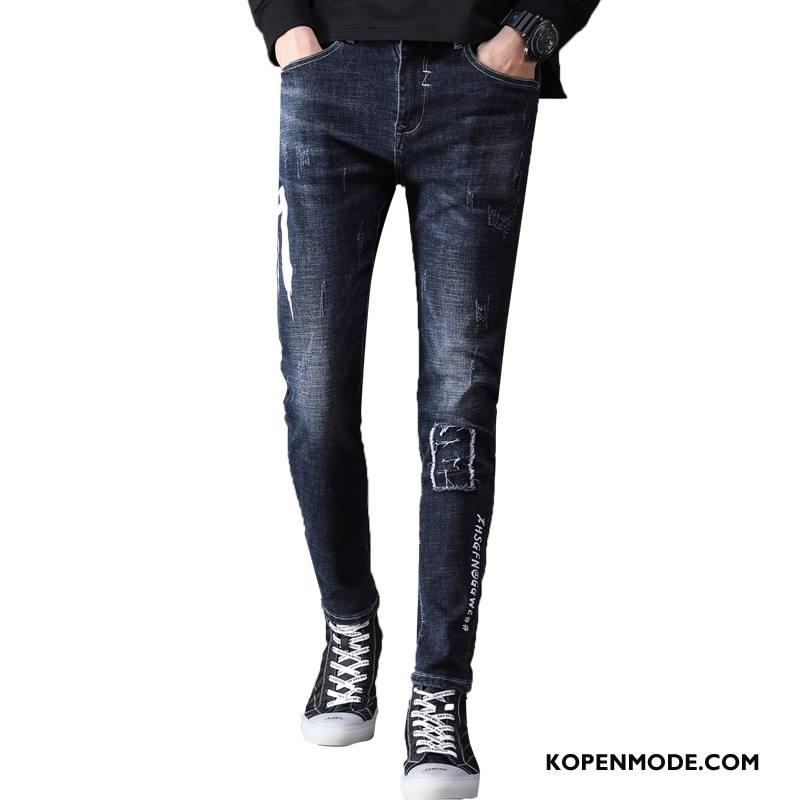Jeans Heren Mode Trendy Merk Broek Denim Blauw