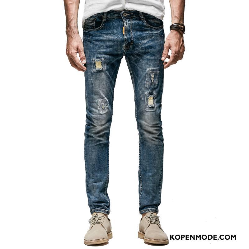 Jeans Heren Trendy Merk Broek Denim Mode Blauw