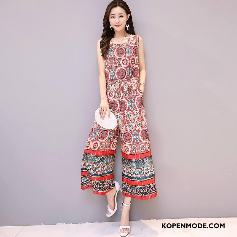 c4d8c34aac4a13 Jurken Dames Elegante Trend Ronde Hals Pak 2018 Mouwloos Rood Online