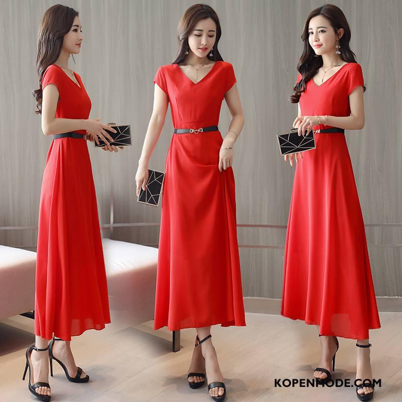 jurk rood lang