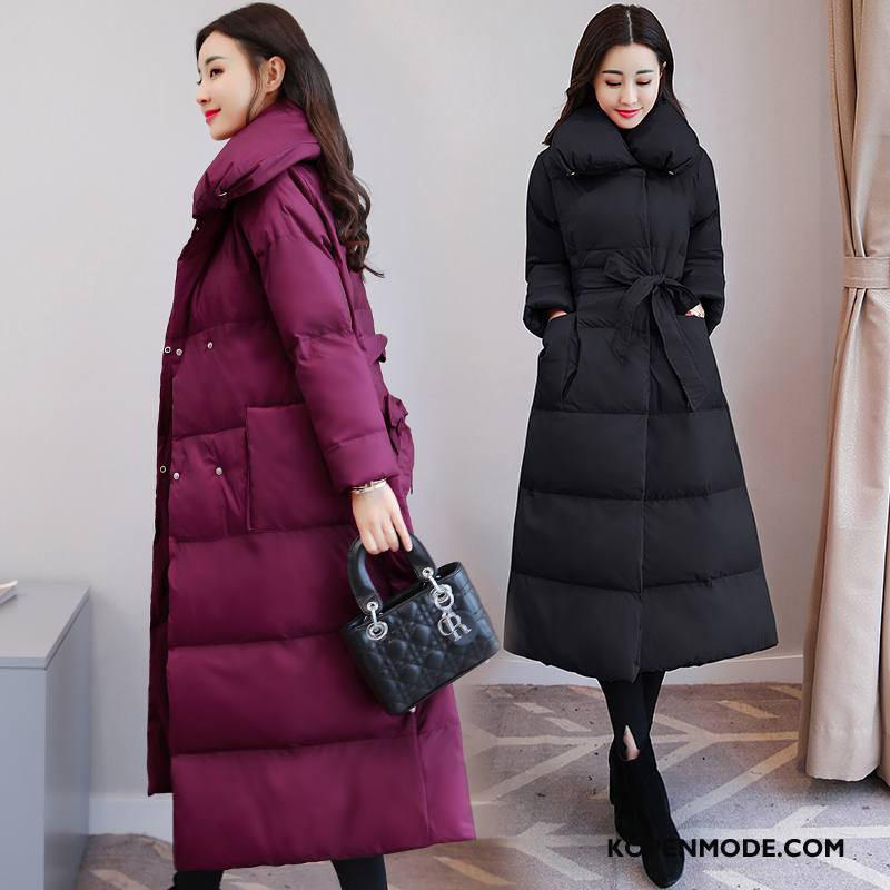 Katoenen Jas Dames Mode Jeugd Slim Fit Comfortabele Losse Stad Purper