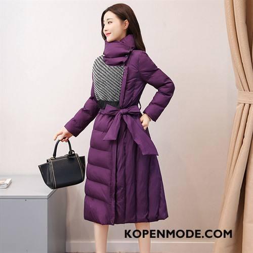 Katoenen Jas Dames Trend Comfortabele Winter Eenvoudige Casual Dikke Purper