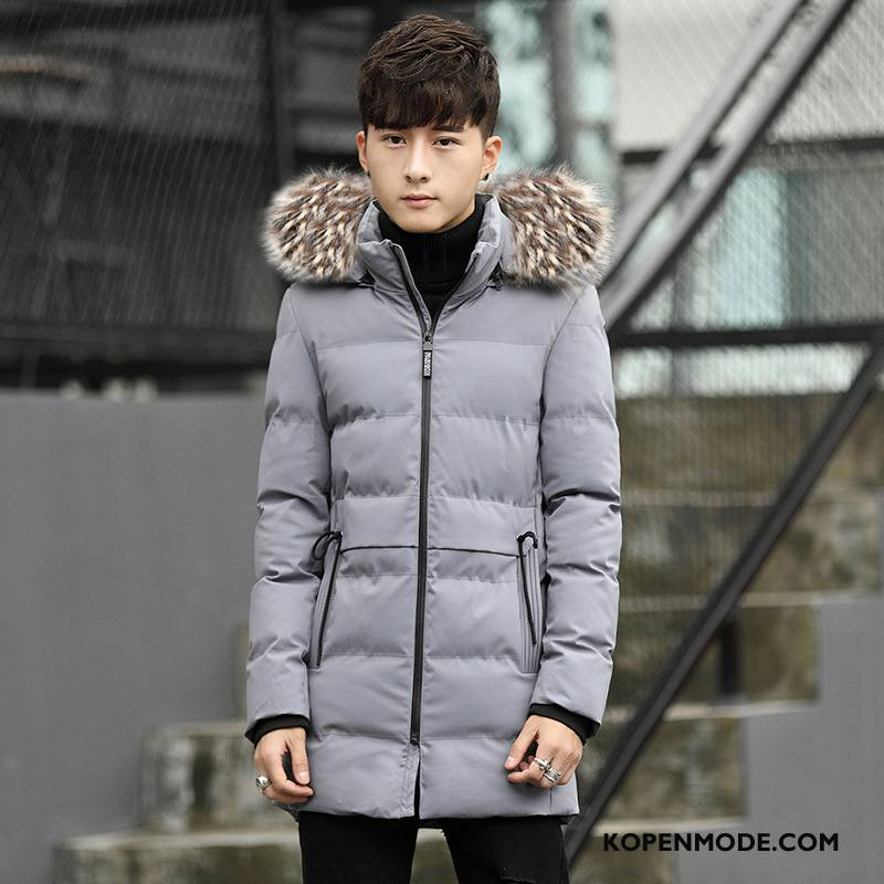 Katoenen Jas Heren Comfortabele Mode Winter Casual Nieuw Trend Grijs