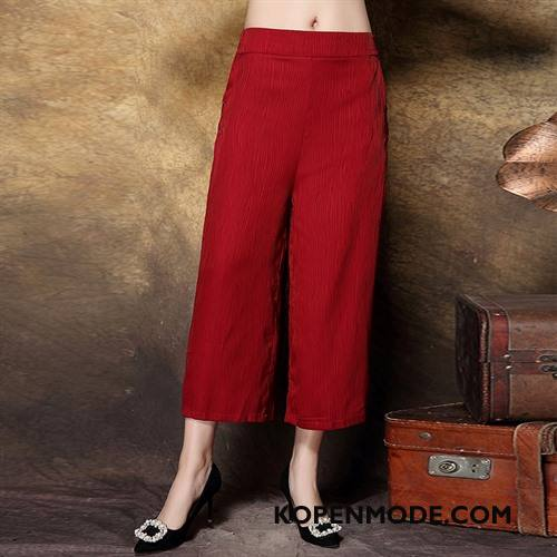 Kleding Middelbare Leeftijd Dames Voorjaar Elegante Mode Populair Vrouwen Losse Effen Kleur Rood