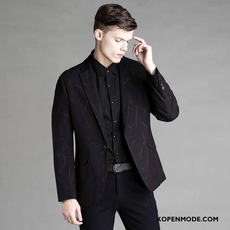 Kostuum Heren Mannen Herfst Jasje Bedrijf Jeugd Blazer Zwart