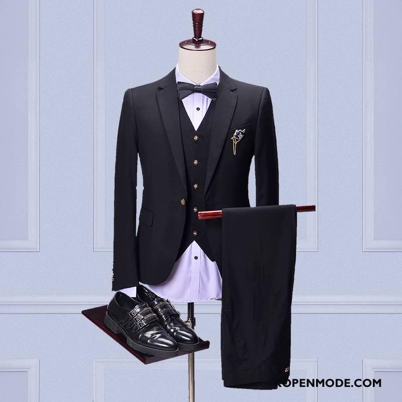 Kostuum Heren Pak Zwart