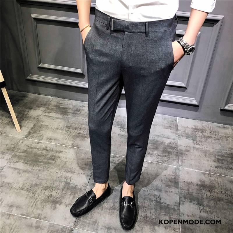 Kostuumbroek Heren Brits 2018 Slim Fit Nieuw Jeugd Casual Grijs
