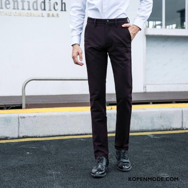 Kostuumbroek Heren Mode Mini Casual Bedrijf Trend Pak Zwart