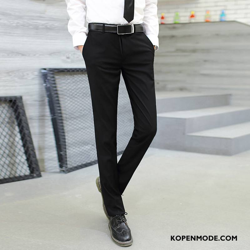 Kostuumbroek Heren Slim Fit Nieuw Mannen Trend Werk Voorjaar Grijs