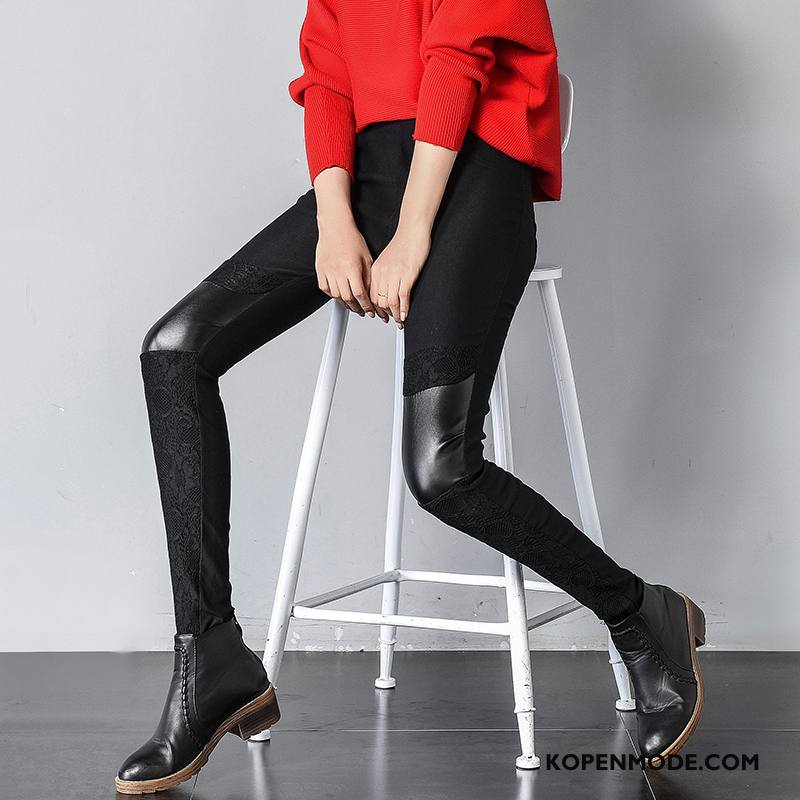 Legging Dames 2018 Verbinding Zak Trend Broek Herfst Zwart