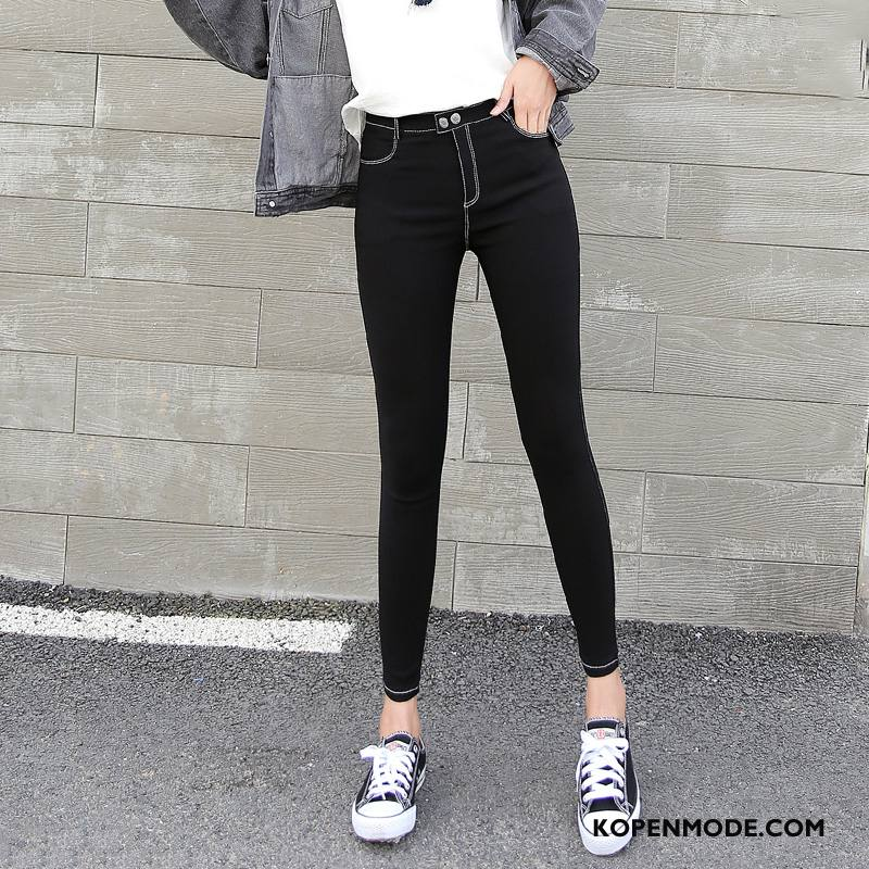 Legging Dames Herfst Elegante Trend Verbinding Zuiver Losse Effen Kleur Zwart