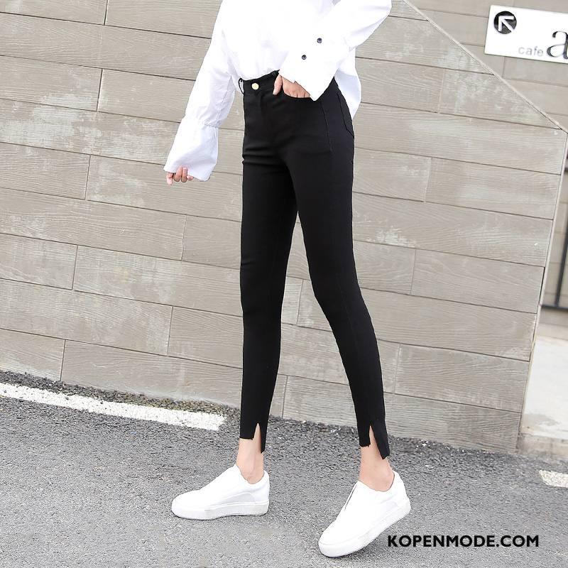 Legging Dames Herfst Zak Elegante Trend Straat 2018 Effen Kleur Zwart