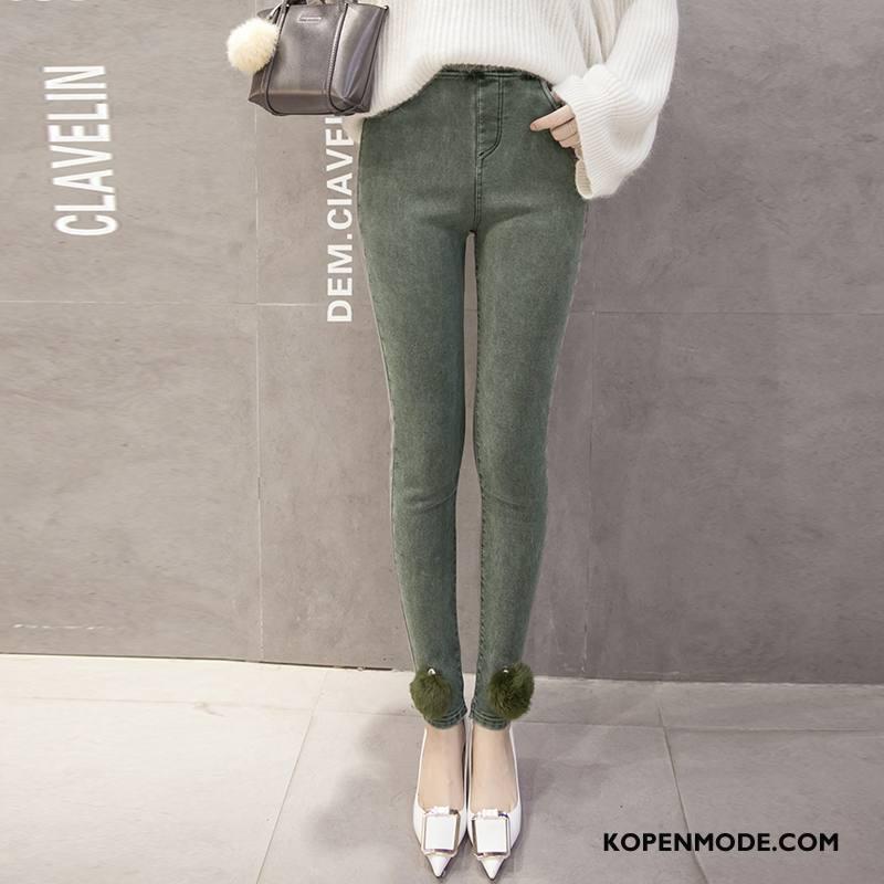 Legging Dames Jeugd Plus Kasjmier Broek Losse Dunne Mode Groen
