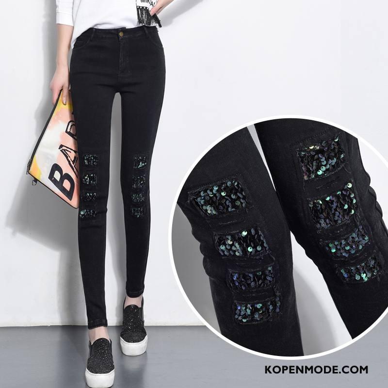 Legging Dames Mode Decoratie Scheppend Zuiver Zoet Letter Zwart