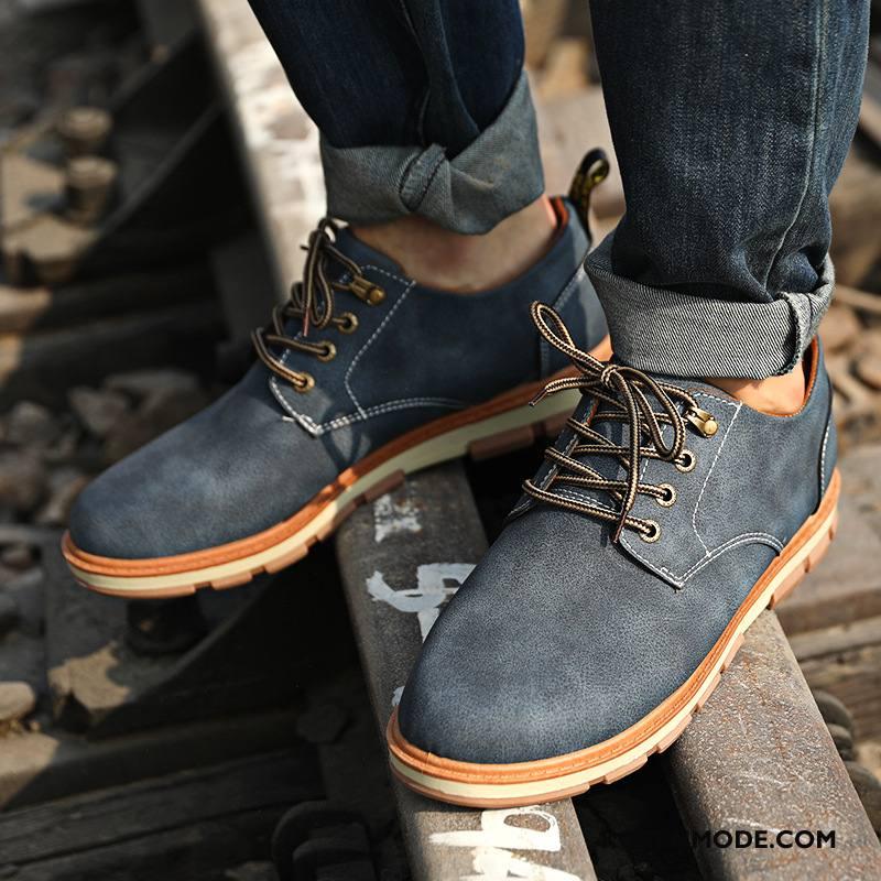 Leren Werkschoenen.Leren Schoenen Heren Werkschoenen Brits Mannen Vintage Casual Groot