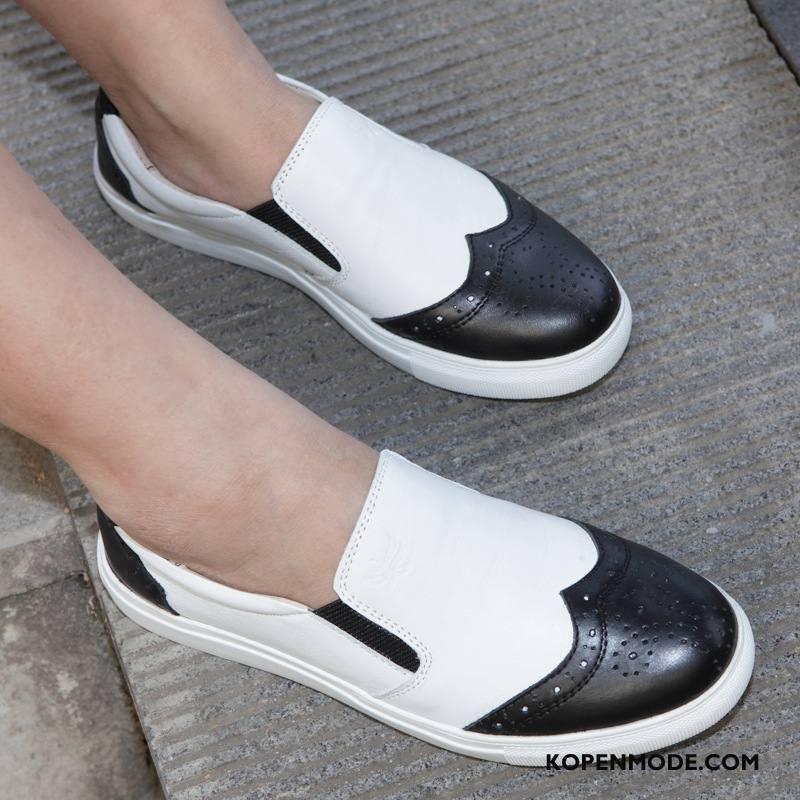 Mocassins Dames Merken Casual Vrouw Skateboard Schoenen Pumps Vrouwen Gemengde Kleuren Wit Zwart