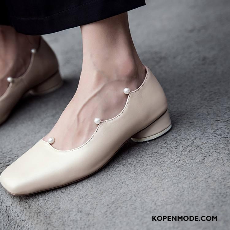 Mocassins Dames Schoenen Alle Wedstrijden Parel Vrouwen 2018 Echt Leer Abrikoos Kleur Licht