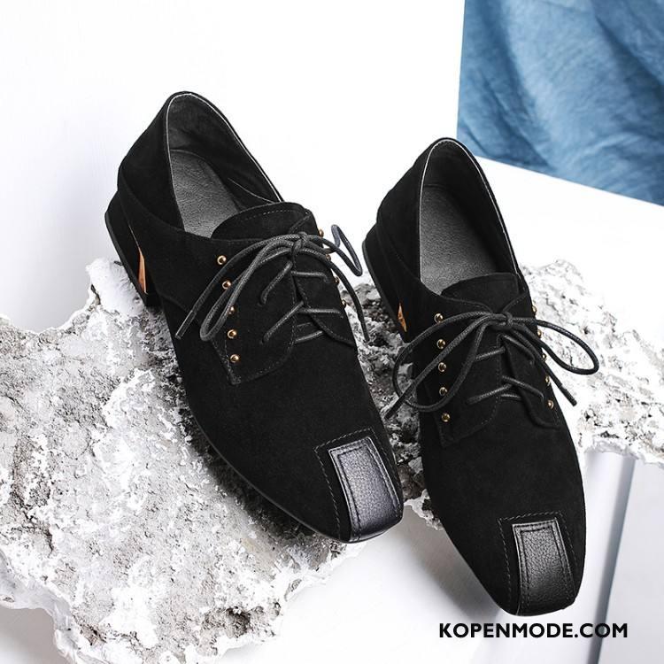 Mocassins Dames Trend Micro Bandjes Schoenen Voorjaar Vrouwen Zwart