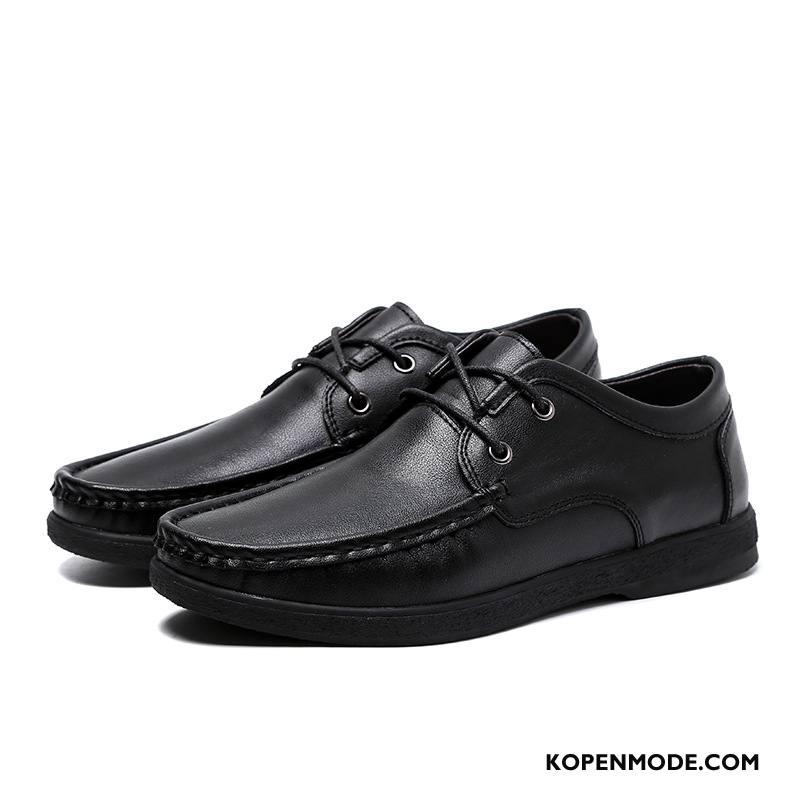Mocassins Heren Ademende Schoenen Comfortabele Geklede Gratis Verzending Lichte Zwart Bruine