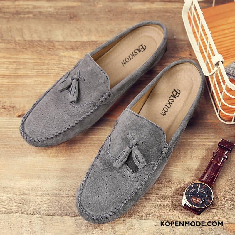 Mocassins Heren Brits Schoenen Mannen Trend Hete Verkoop Bootschoenen Grijs