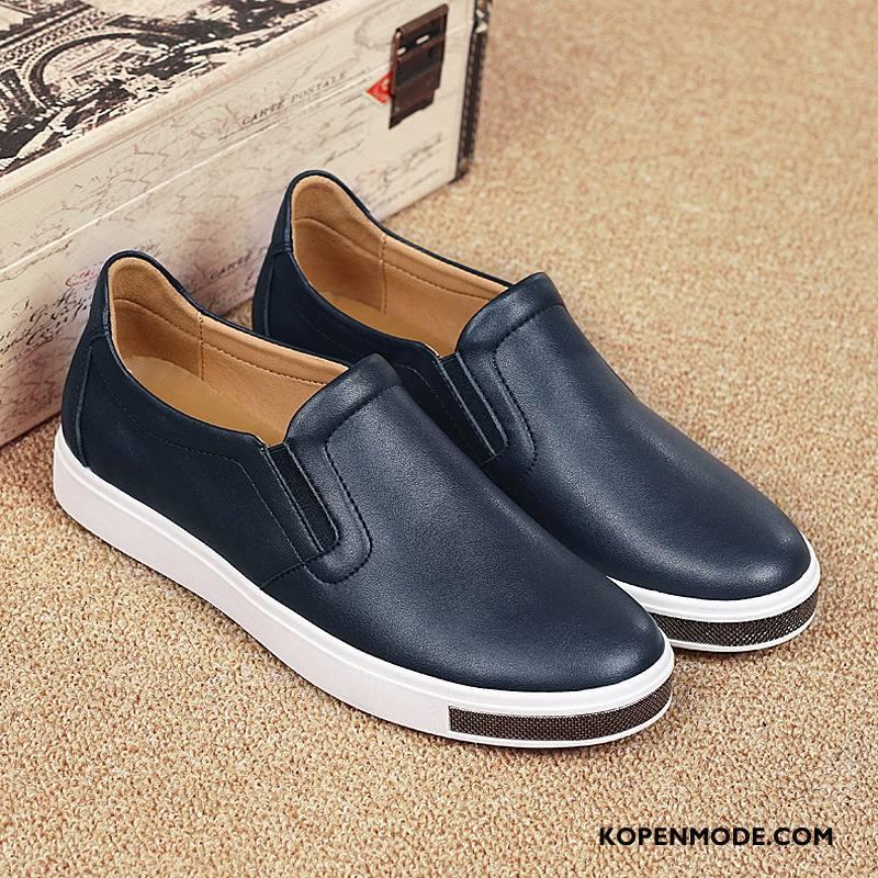 Mocassins Heren Laag Schoenen Skateboard Schoenen Mode Loafers Mannen Blauw