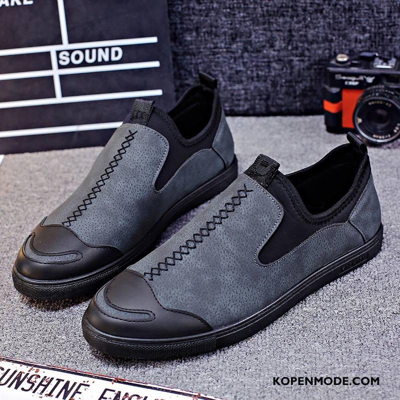 Mocassins Heren Mannen Jeugd Loafers Ademende Schoenen Slip On Grijs