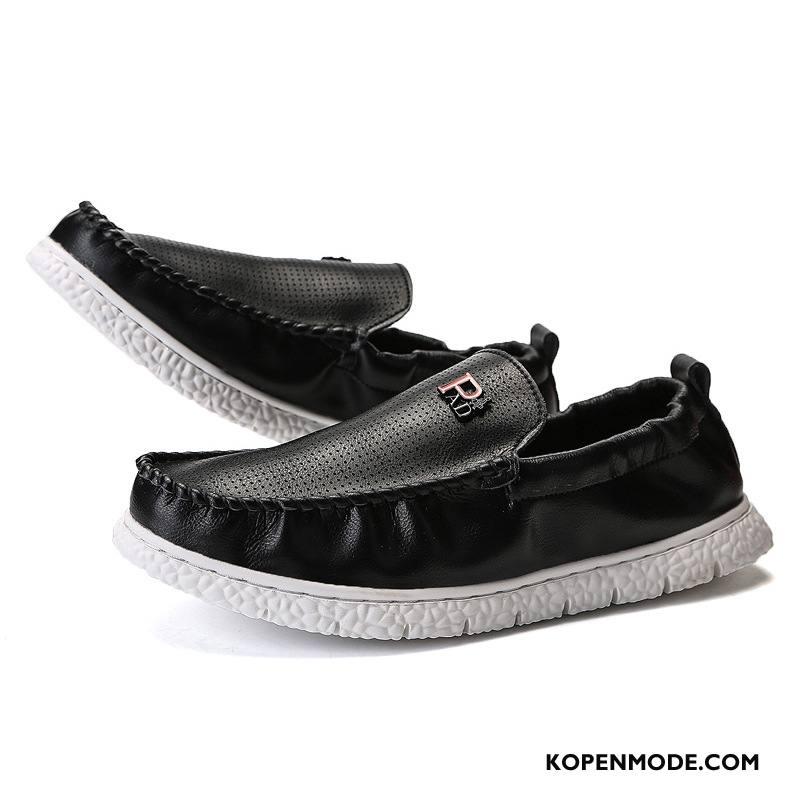 Mocassins Heren Mode Casual Mannen Loafers Alle Wedstrijden Trend Zwart
