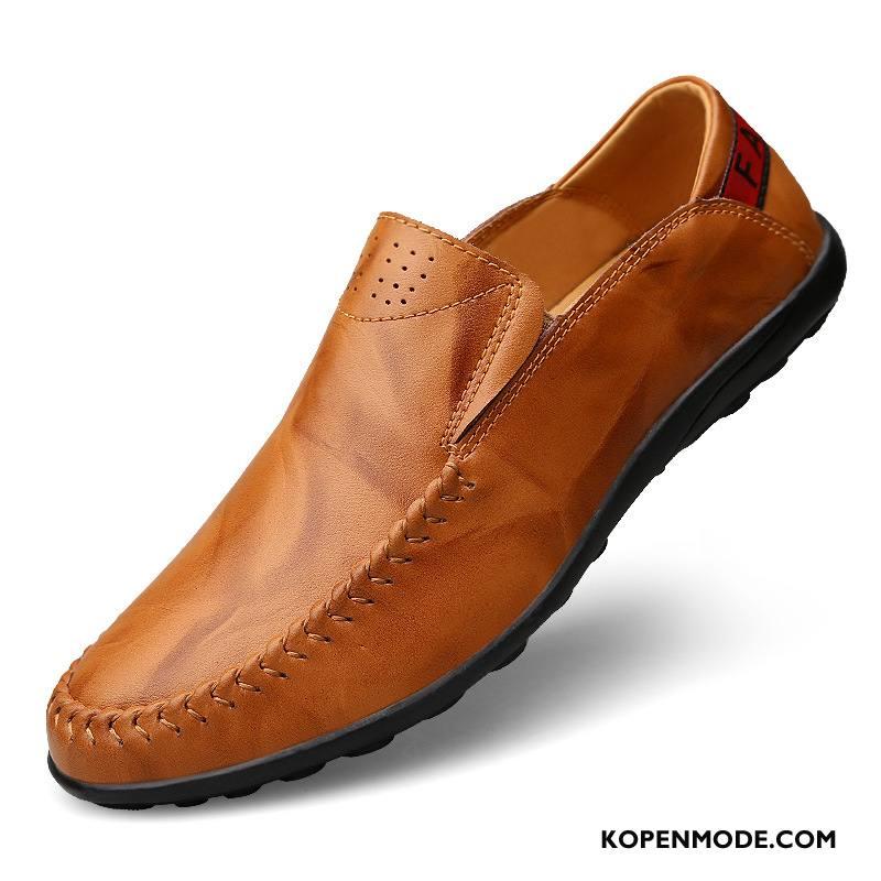 Heren Seizoenen Leer Mocassins Vier Schoenen Casual Echt Loafers 8Onk0wP