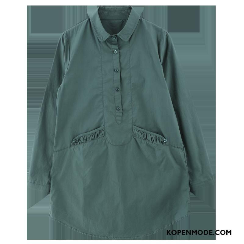 Blouse Overhemd.Overhemden Dames Blouse Overhemd Zak Voorjaar Straat Elegante Mode