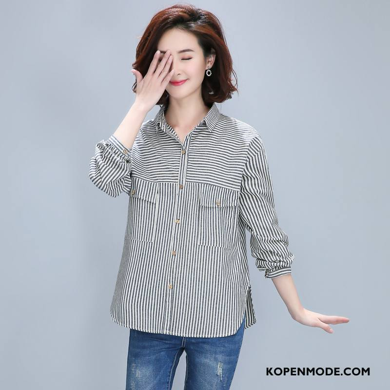 Blouse Of Overhemd.Overhemden Dames Elegante Lange Mouwen Zoet Eenvoudige Voorjaar