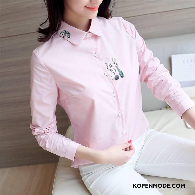 Blouse Of Overhemd.Overhemden Dames Geborduurde Zoet Eenvoudige Elegante Blouse