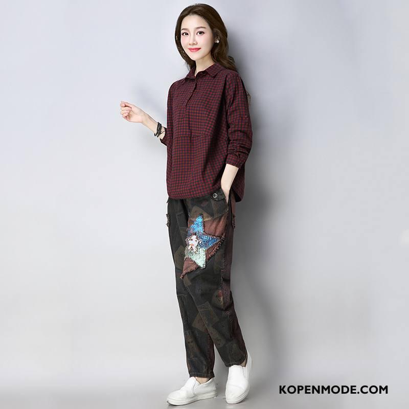 Overhemden Dames Lange Mouwen 2018 Voorjaar Elegante Blouse Overhemd Mode Effen Kleur Rood