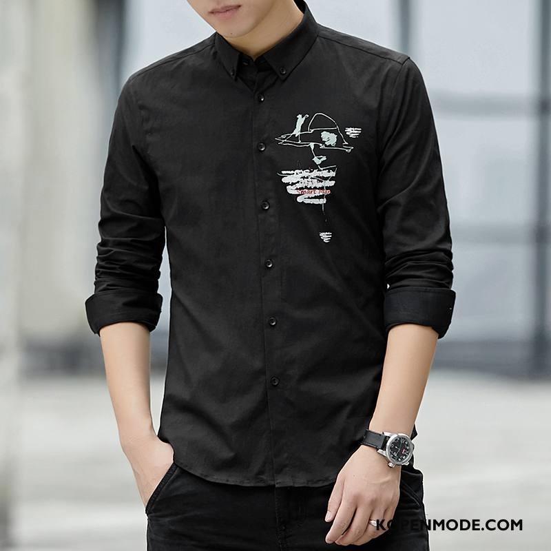 Zwart Overhemd Kopen.Overhemden Heren Bedrijf Brits Dunne Geklede Slim Fit Mannen Zwart Kopen